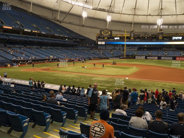 Tropicana Field Section 120 view
