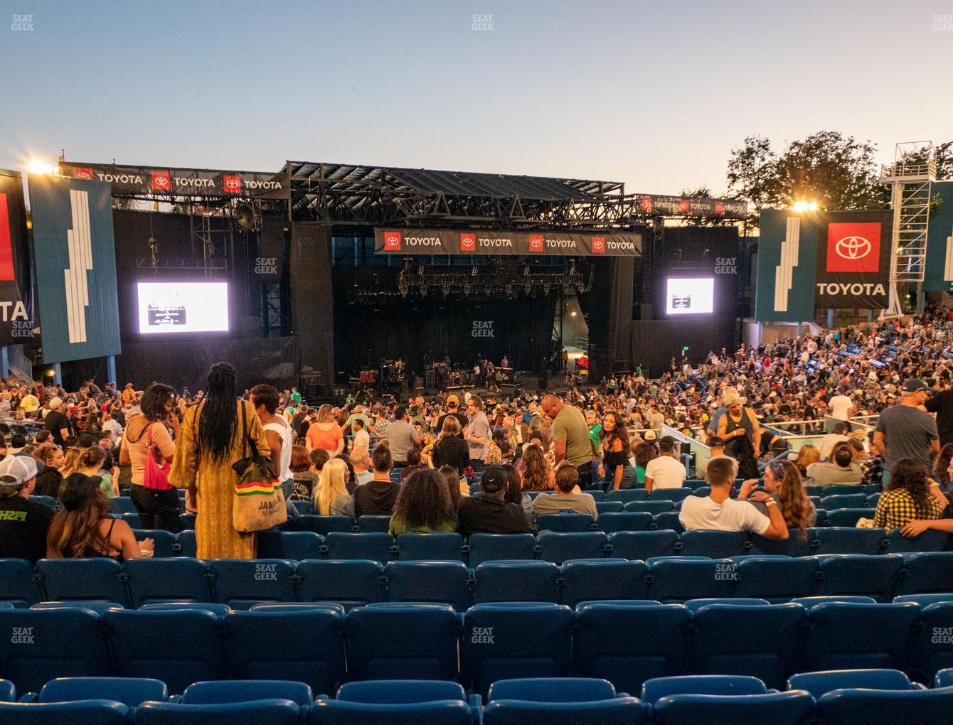 Concert at Pacific Amphitheatre Section 5 View