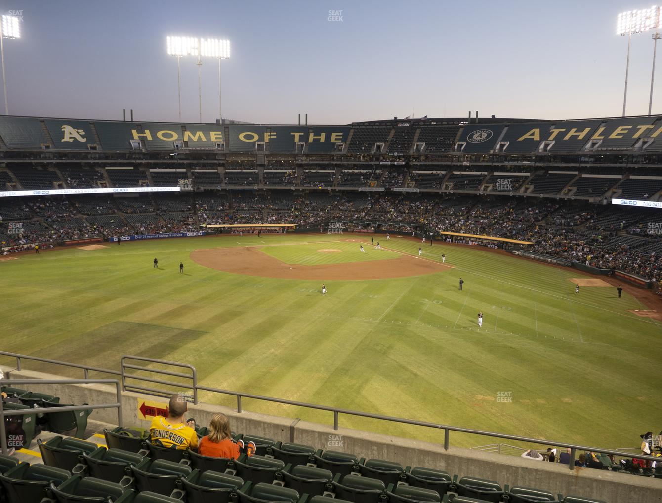 Oakland Athletics at RingCentral Coliseum Section 238 View