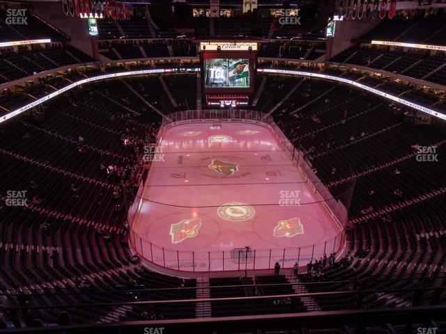 Xcel Energy Center Section 212 view