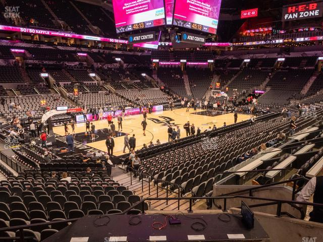 AT&T Center Section 125 view