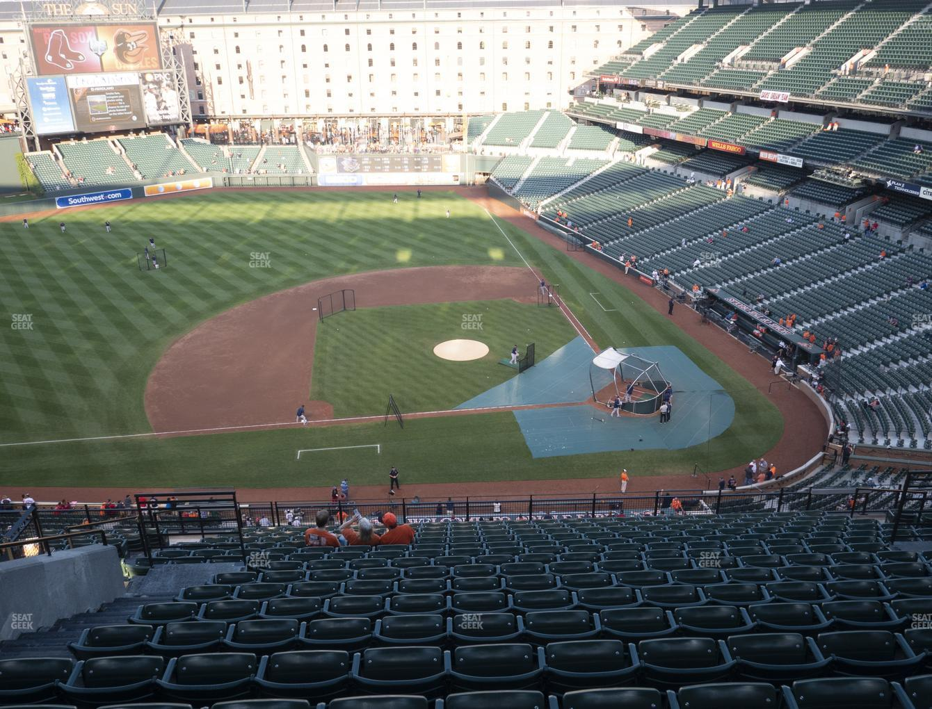 Baltimore Orioles at Oriole Park at Camden Yards Section 352 View