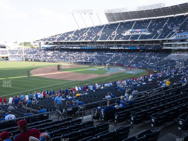 Kauffman Stadium Section 213 view