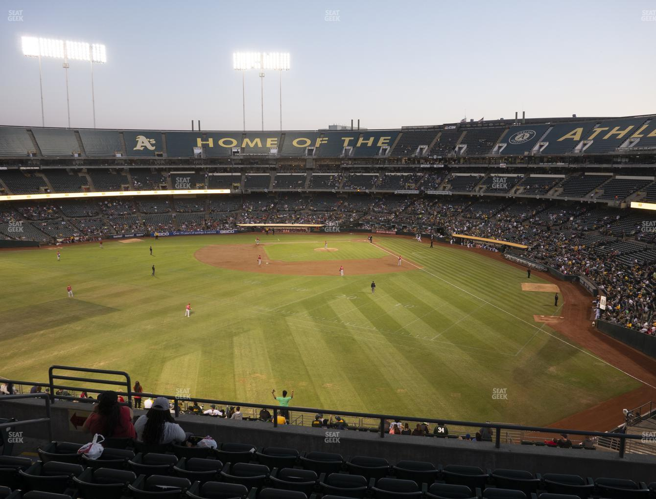 Oakland Athletics at RingCentral Coliseum Section 235 View