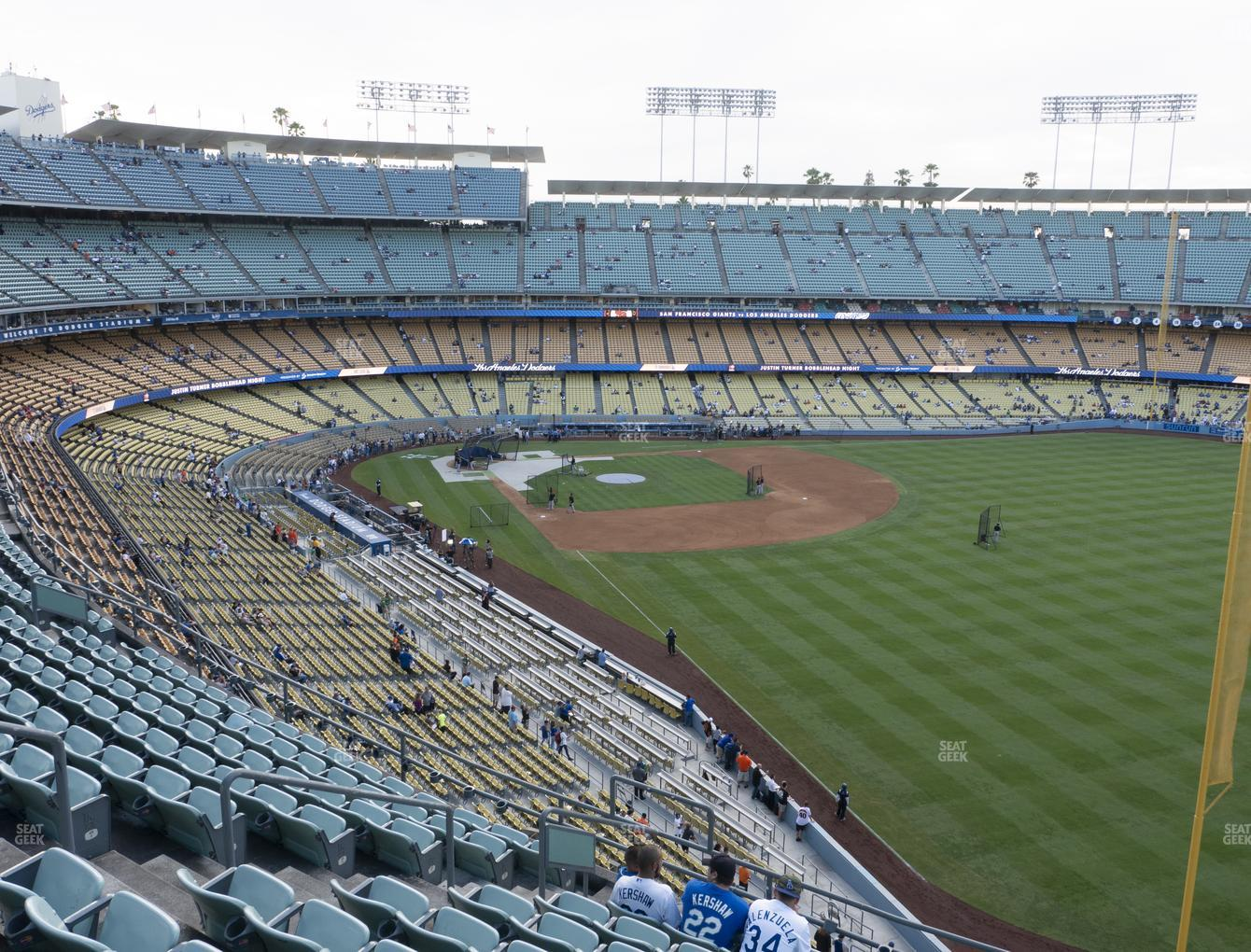 Los Angeles Dodgers at Dodger Stadium Reserve 52 View