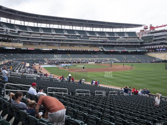 Target Field Section 102 view