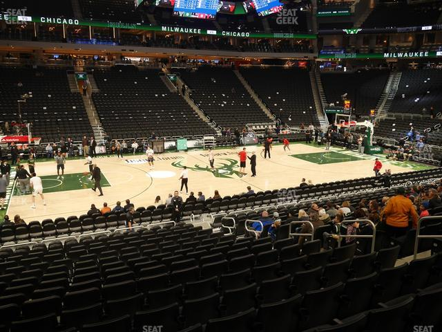Fiserv Forum Section 107 view