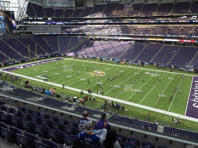 U.S. Bank Stadium Section 230 view