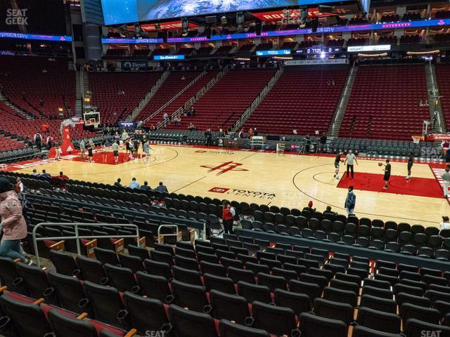 Toyota Center Section 106 view