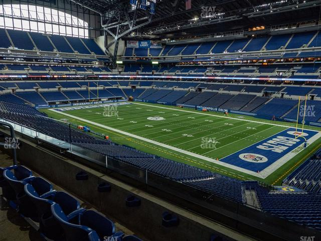 Lucas Oil Stadium Section 307 view