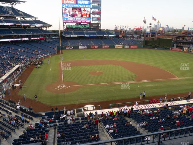Citizens Bank Park Section 218 view