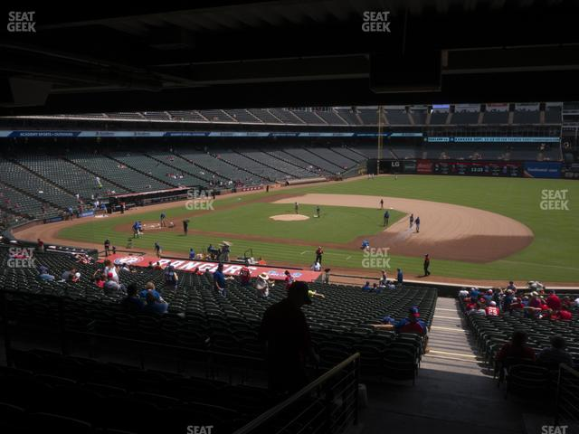 Globe Life Park Section 136 view