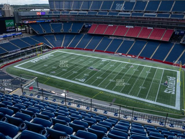 Gillette Stadium Section 306 view