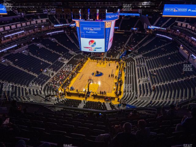 Chase Center Section 212 view