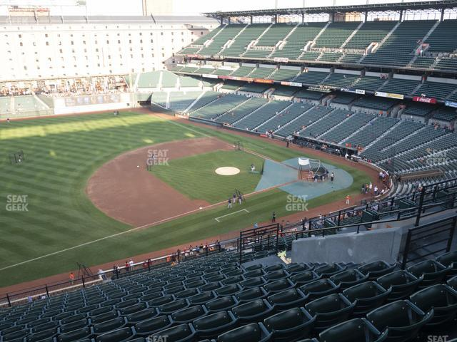 Oriole Park at Camden Yards Section 356 view