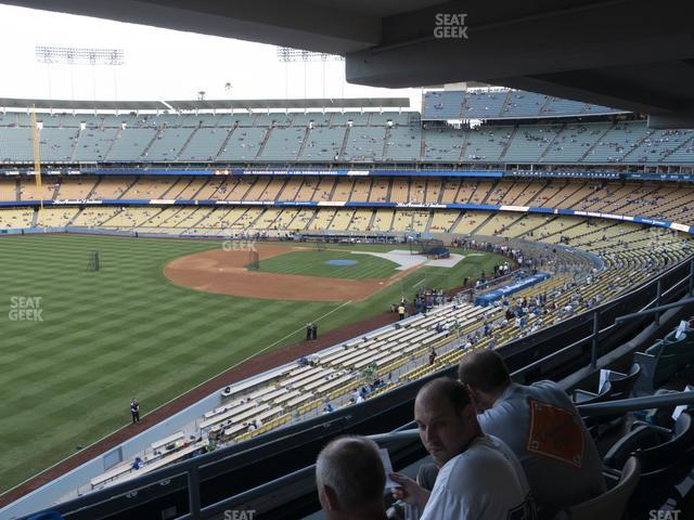 Dodger Stadium Section Club 245 view