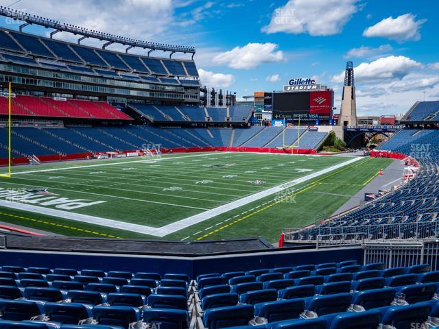 Gillette Stadium Section 117 view