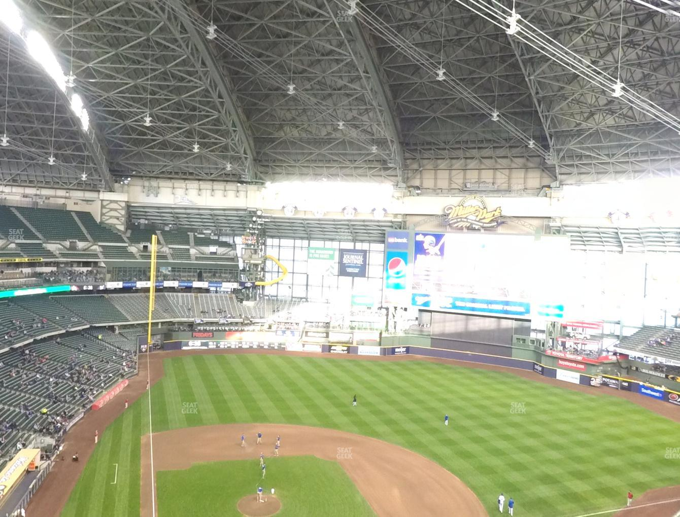 Concert at Miller Park Section 418 View