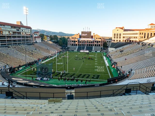 Folsom Field Section 210 view