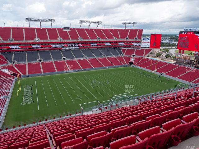 Raymond James Stadium Section 332 view
