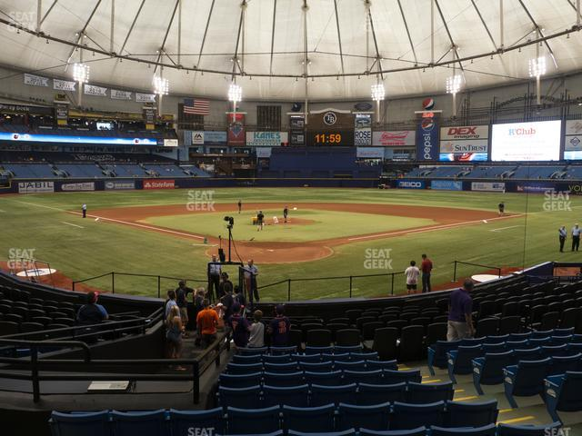 Tropicana Field Section 102 view