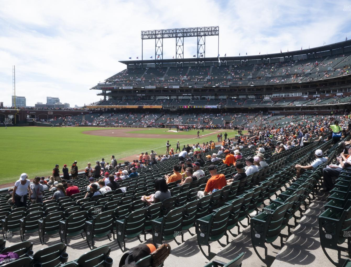 San Francisco Giants at Oracle Park Section 132 View