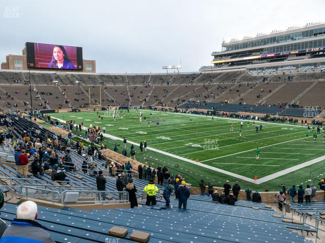 Notre Dame Stadium Section 5 view