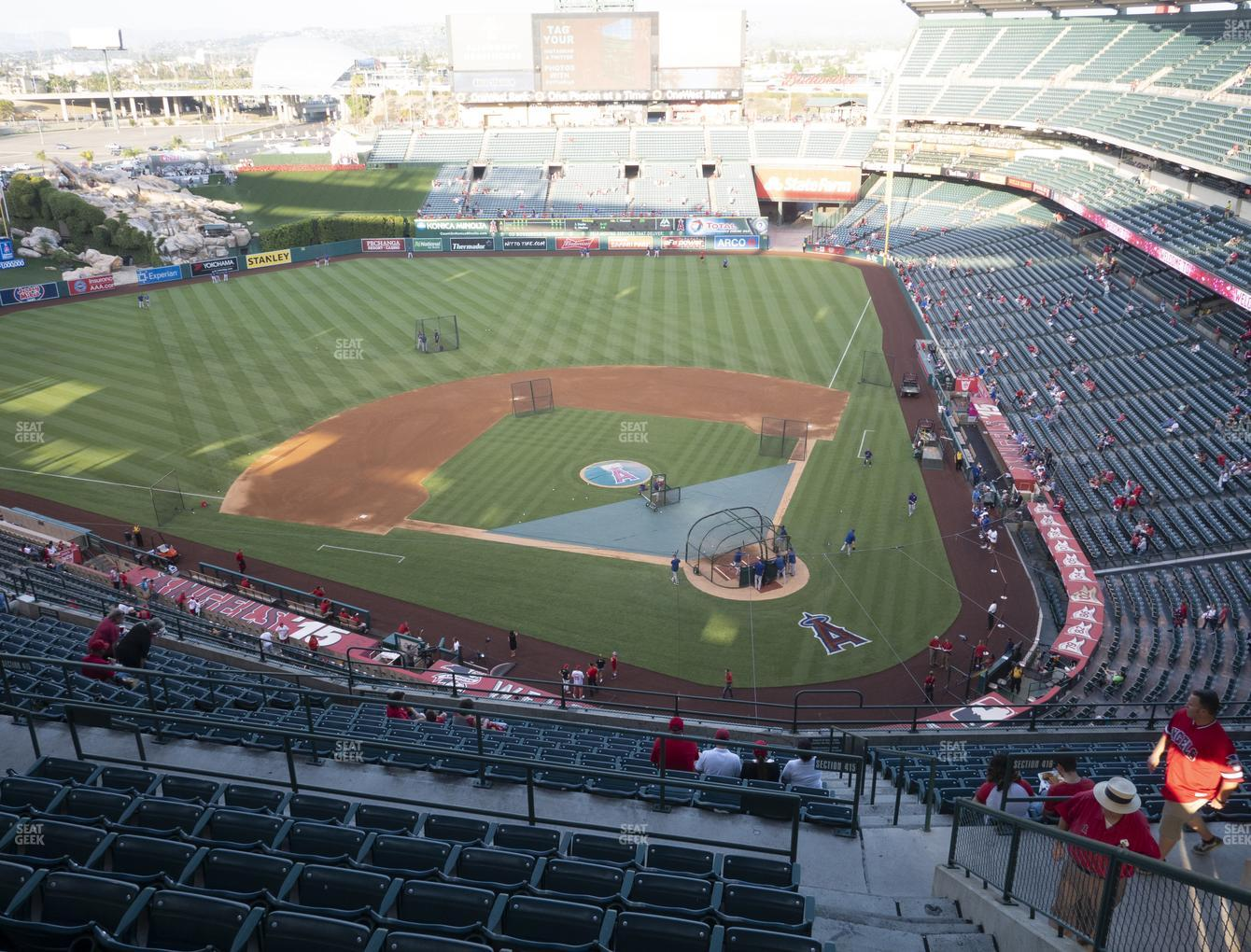 Los Angeles Angels at Angel Stadium of Anaheim Section 517 View