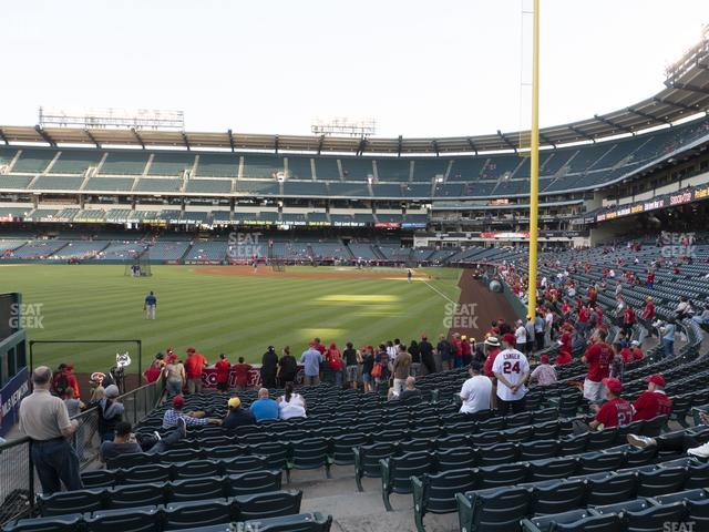 Angel Stadium of Anaheim Section 101 view