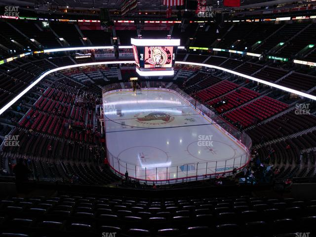 Canadian Tire Centre Section 302 view