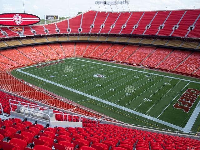 Arrowhead Stadium Section 319 view