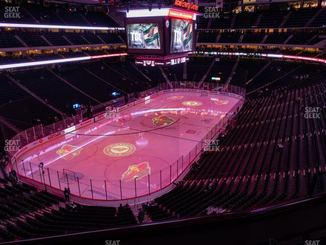 Xcel Energy Center Section Club 13 view