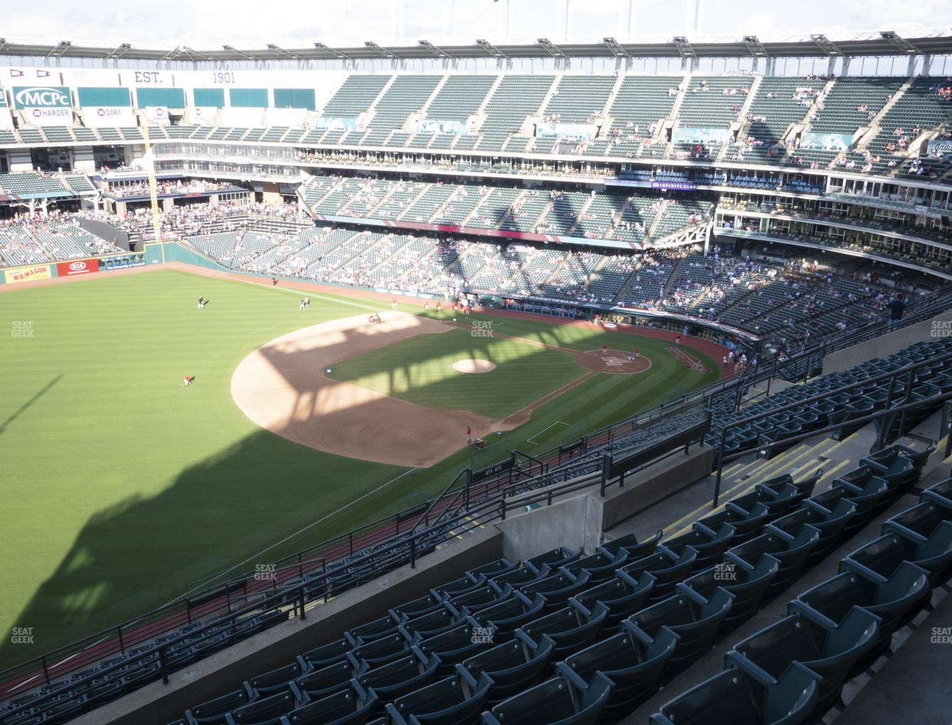 Cleveland Indians at Progressive Field Section 575 View