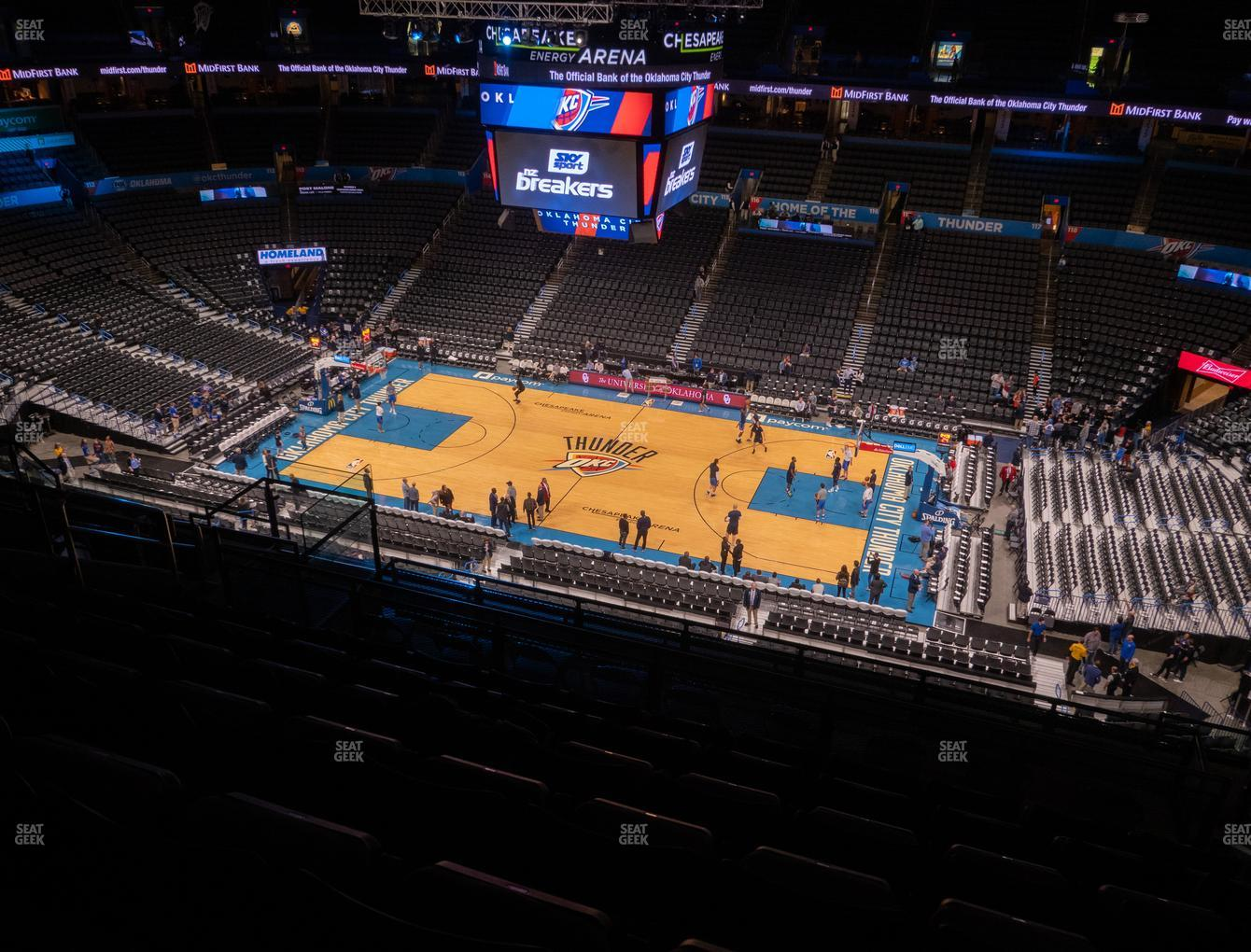 Oklahoma City Thunder at Chesapeake Energy Arena Section 307 View