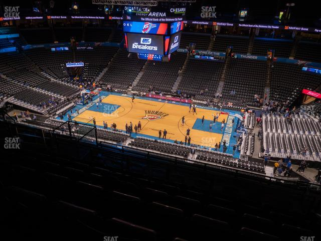 Chesapeake Energy Arena Section 307 view
