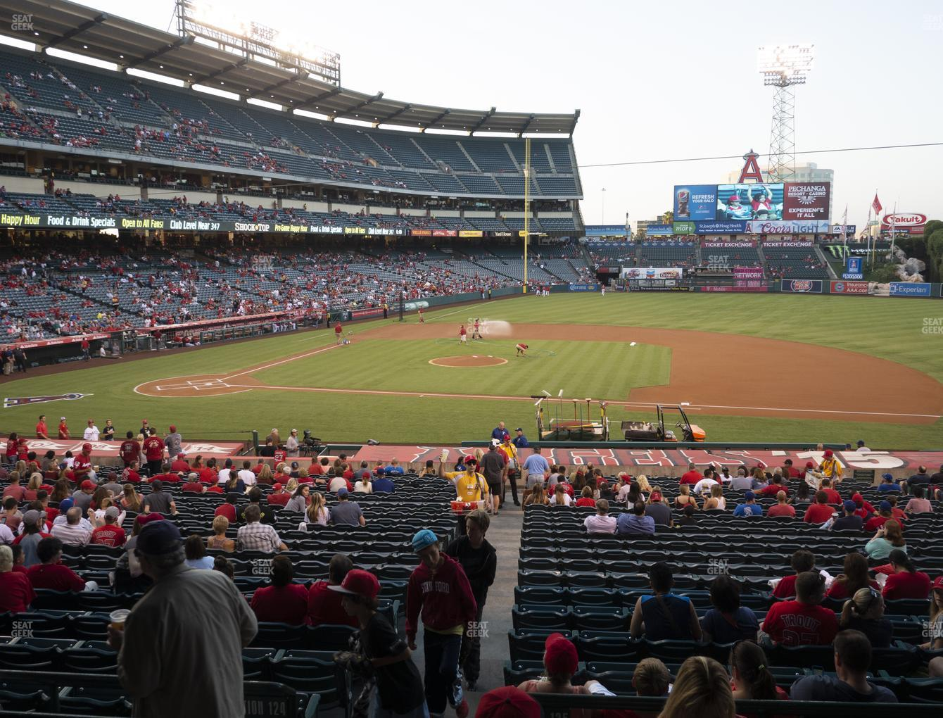 Los Angeles Angels at Angel Stadium of Anaheim Section 223 View