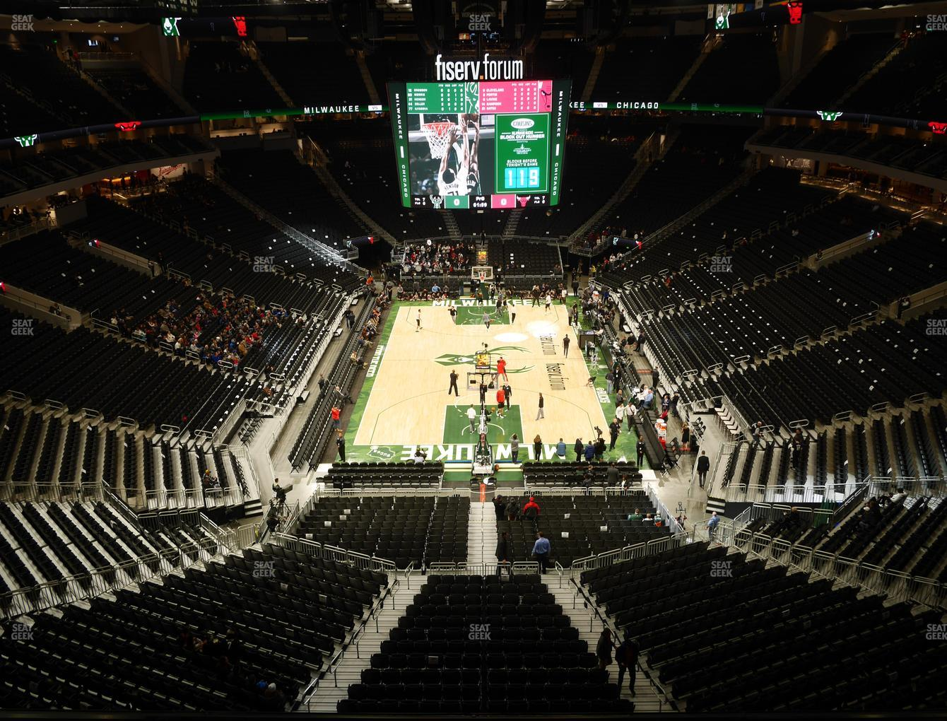 Milwaukee Bucks at Fiserv Forum Section 201 View