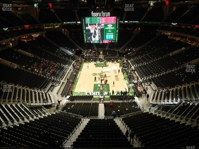 Fiserv Forum Section 201 view