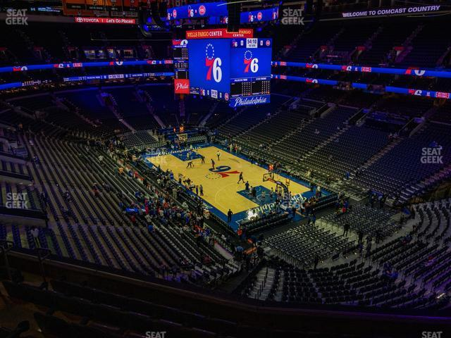 Wells Fargo Center Section 205 view