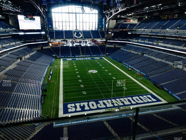 Lucas Oil Stadium Section 528 view