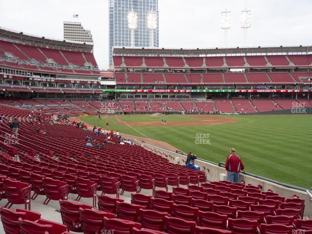 Great American Ball Park Section 138 view
