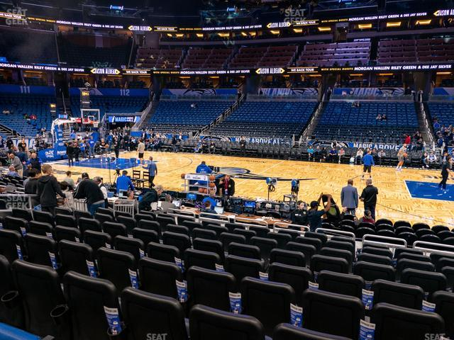Amway Center Section 105 view