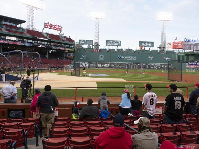 Fenway Park Field Box 33 view