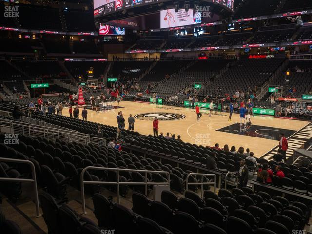 State Farm Arena Section 106 view