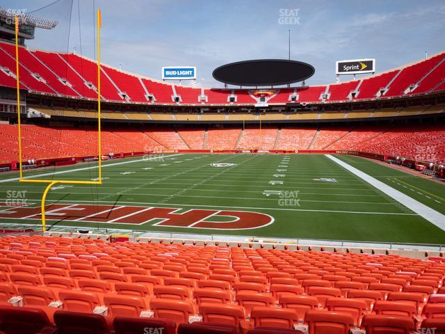Arrowhead Stadium Section 109 view