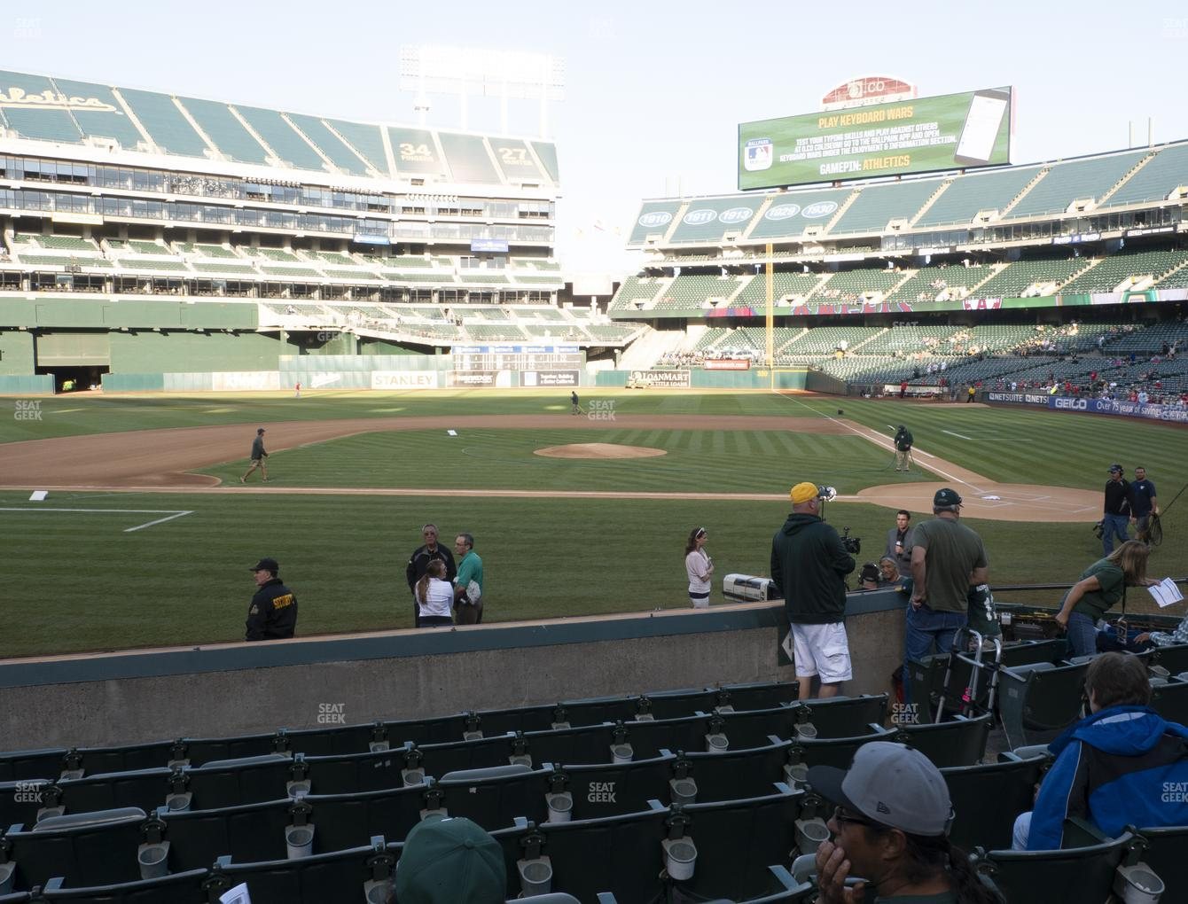 Oakland Athletics at Oakland-Alameda County Coliseum Section 120 View