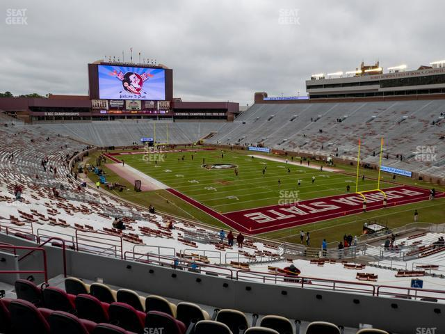 Doak Campbell Stadium Section Club 227 view