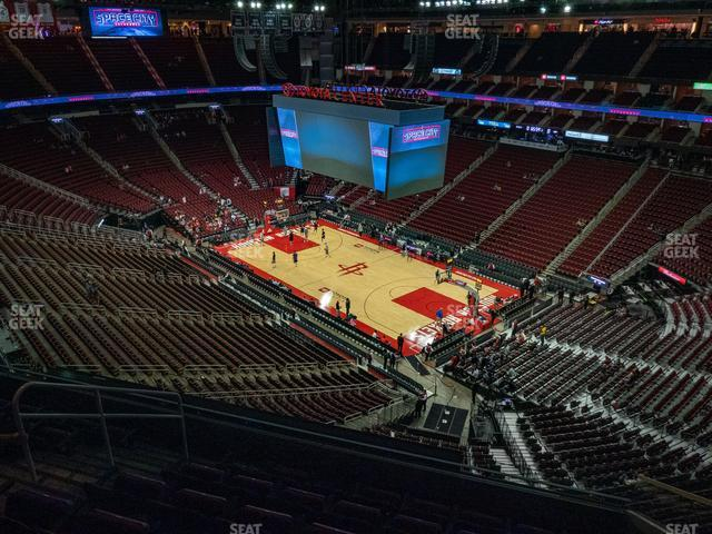 Toyota Center Section 405 view