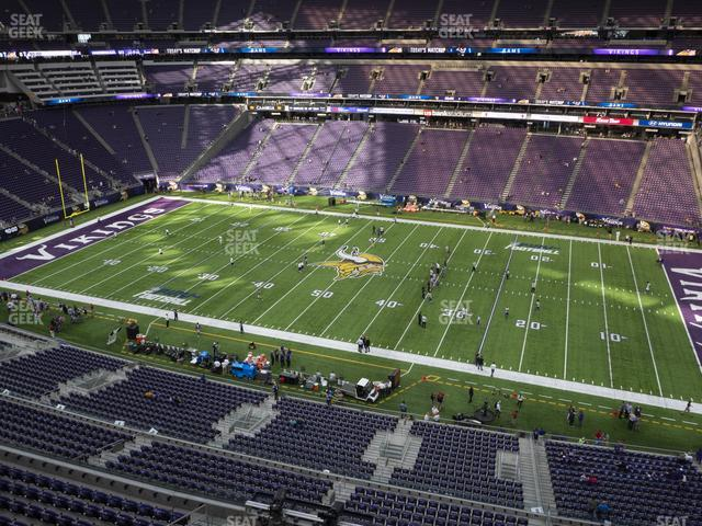 U.S. Bank Stadium Section 338 view