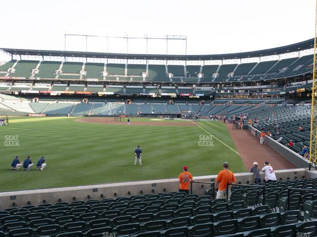 Oriole Park at Camden Yards Section 76 view